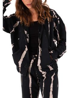 Petite Women's Pam & Gela Bleach Tie Dye Zip Hoodie