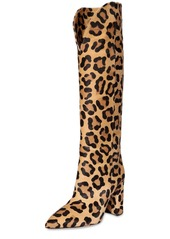 Paris Texas 100mm Rounded Edge Ponyskin Tall Boots