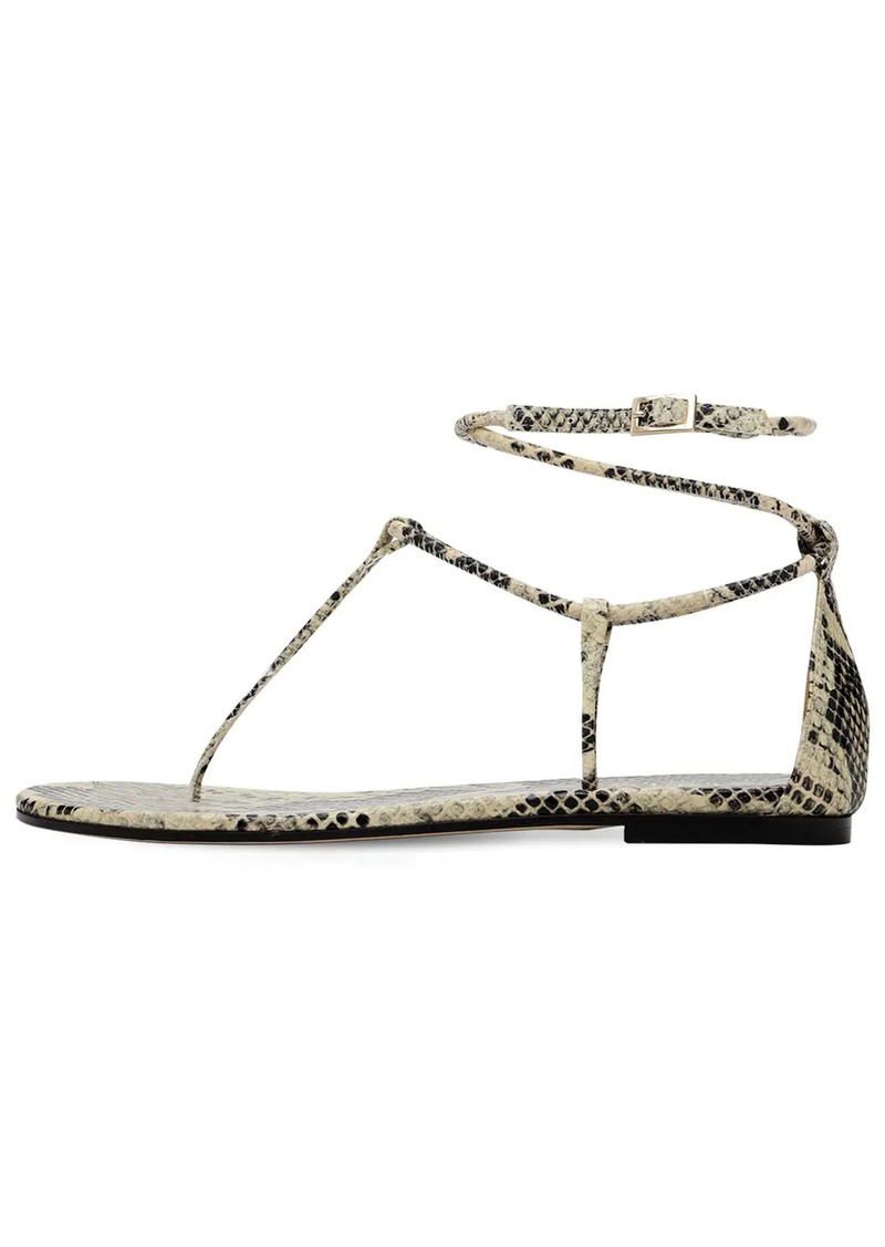 Paris Texas 10mm Jacky Python Print Leather Sandals