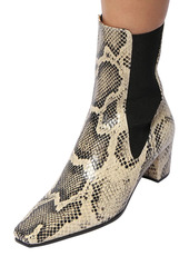 Paris Texas 50mm Python Print Leather Ankle Boots