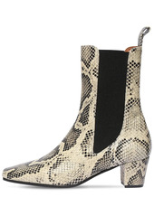 Paris Texas 50mm Python Print Leather Ankle Boots