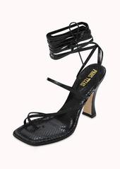 Paris Texas 95mm Mirta Python Print Leather Sandals