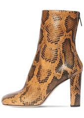 Paris Texas 95mm Snake Print Leather Ankle Boots