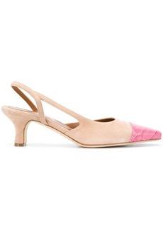 Paris Texas contrast-toe cap slingback sandals