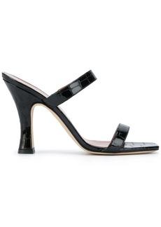 Paris Texas crocodile embossed sandals