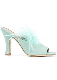 Paris Texas feather sandals