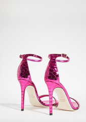 Paris Texas 105mm Mirrored Python Print Nudist Sandals