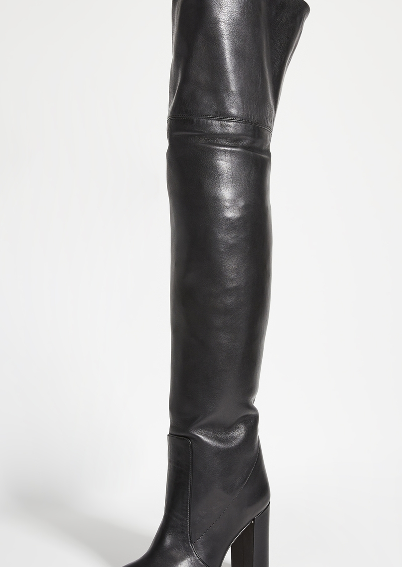 Paris Texas Calf Leather Over The Knee Boots