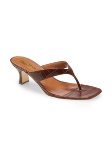 Paris Texas Croc Embossed Sandal (Women)