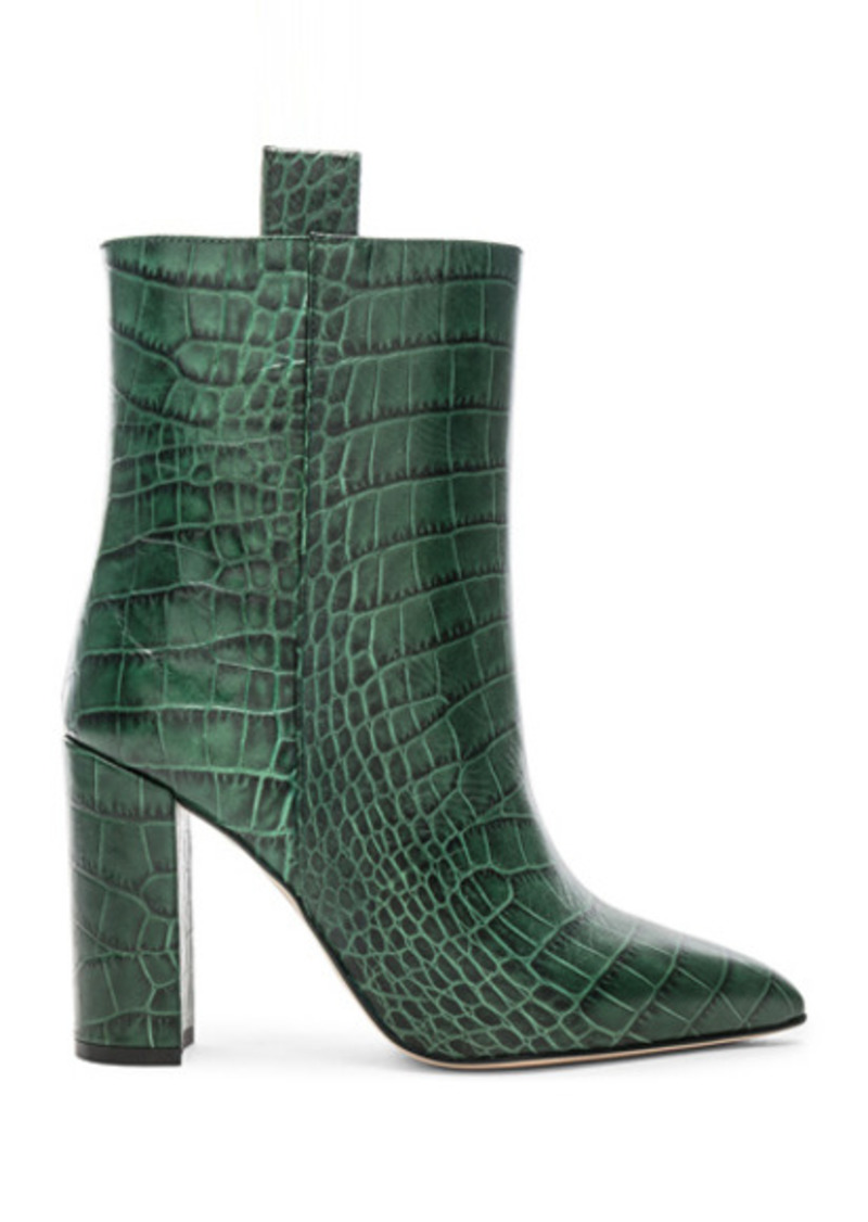 Paris Texas Croco Ankle Boot