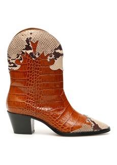 Paris Texas Crocodile And Python Print Cowboy Boots