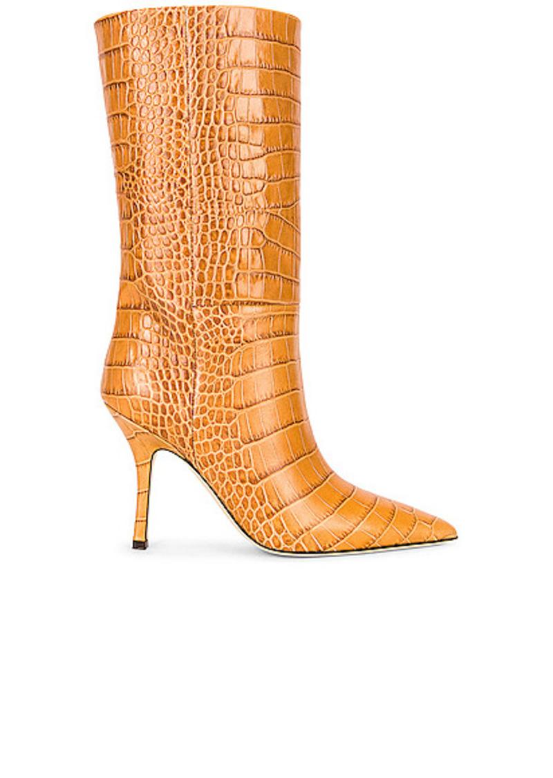 Paris Texas Embossed Croco Mama Mid Calf Boot