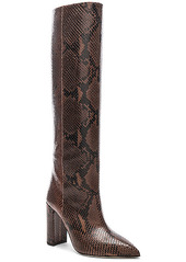 Paris Texas Knee High Python Print Boot