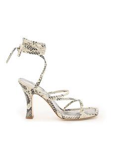 Paris Texas Mirta Python Print Sandals