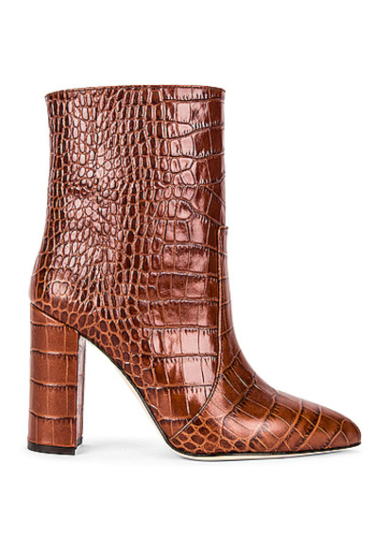 Paris Texas Moc Croco Ankle Boot