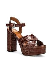 Paris Texas Moc Croco Platform Sandal