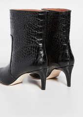 Paris Texas Moc Croco Seamed Ankle Boots