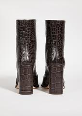 Paris Texas Moc Embossed Croco Squared Booties