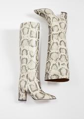 Paris Texas Python Print Boots 80mm Heel