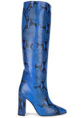 Paris Texas Python Print Heel Boot