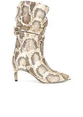 Paris Texas Python Print Slouchy Boot