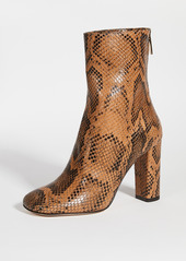 Paris Texas Python Print Square Toe Zip Ankle Boots