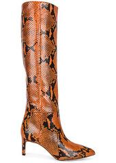 Paris Texas Python Print Tall Stiletto Boot
