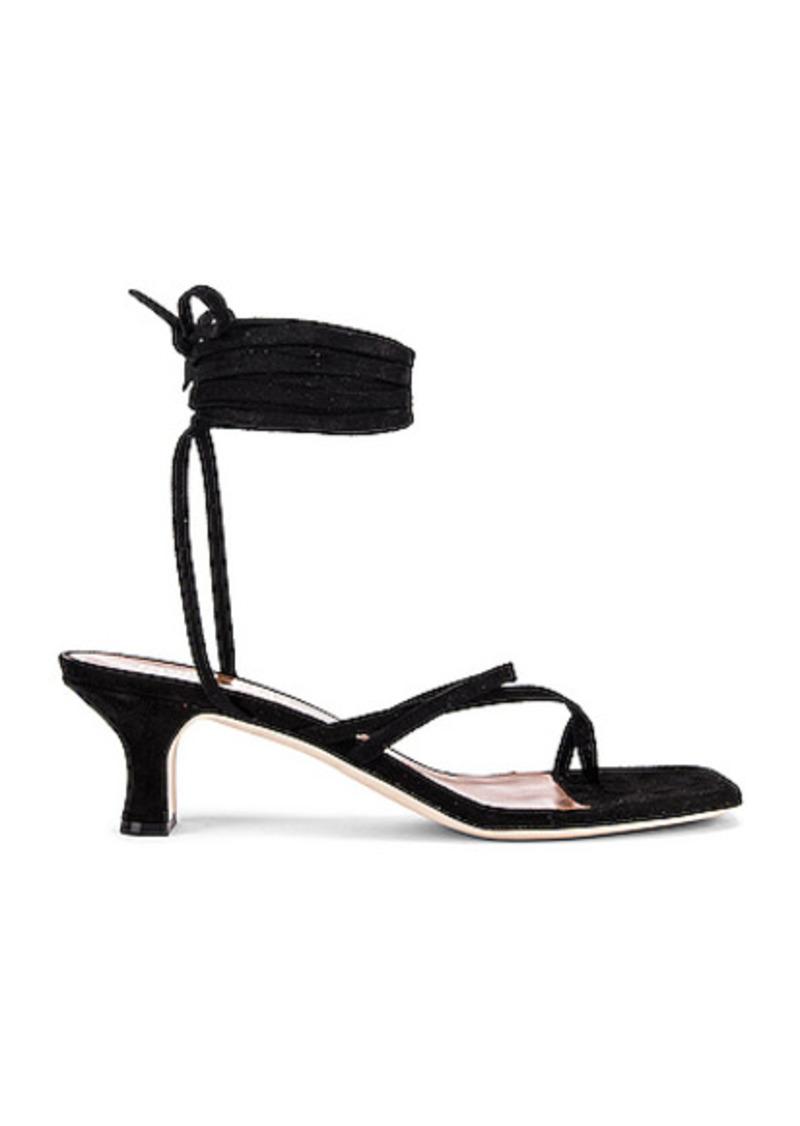 Paris Texas Suede Wrap Sandal
