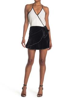 Parker Lisandra Studded Ruffle Mini Skirt