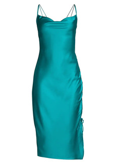 Parker Perla Cowl Neck Satin Dress