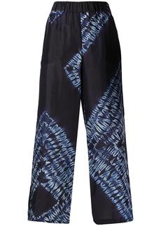 P.A.R.O.S.H. abstract-print silk culottes