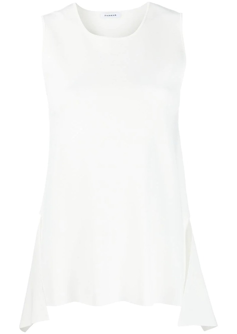 P.A.R.O.S.H. asymmetrical draped vest top