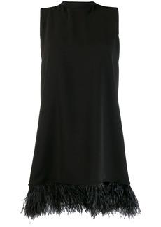P.A.R.O.S.H. feather-embellished hem dress