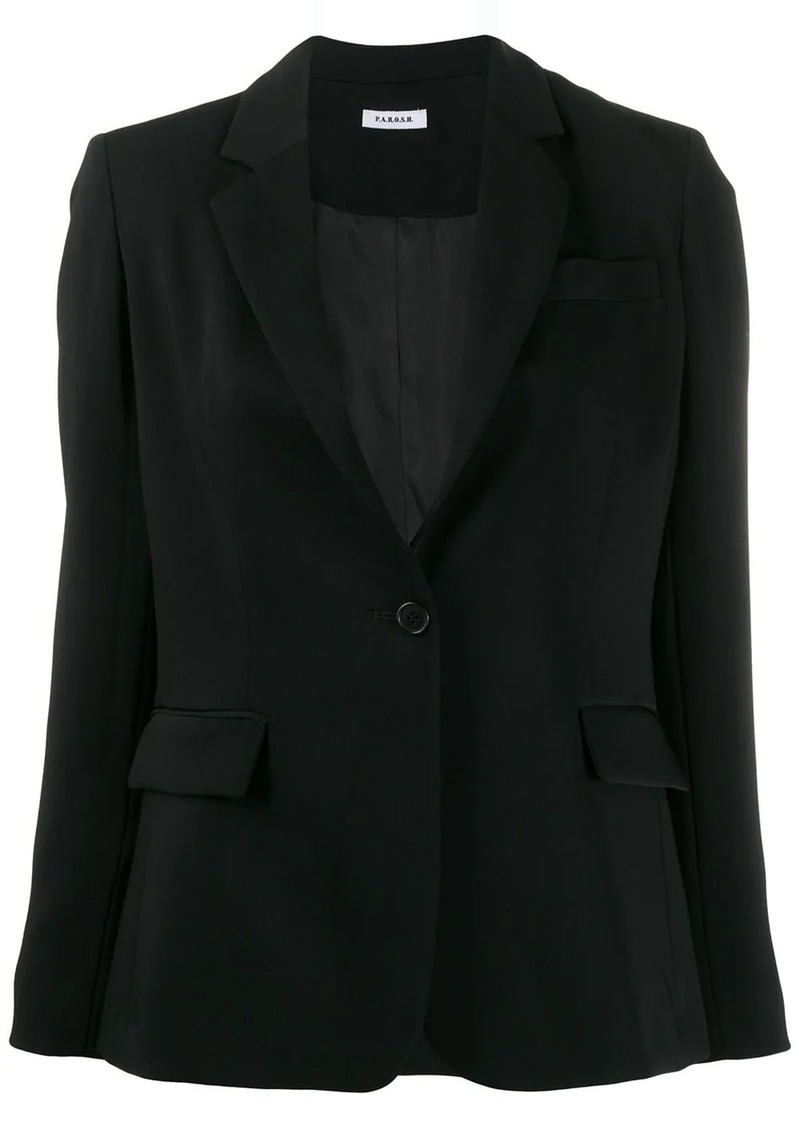 P.A.R.O.S.H. fitted single breasted blazer