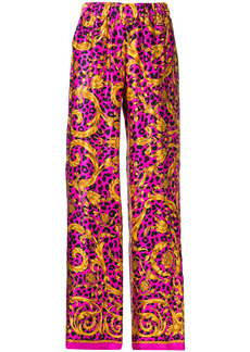 P.A.R.O.S.H. flared printed trousers