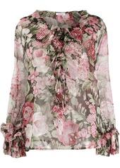 P.A.R.O.S.H. floral print ruffle blouse