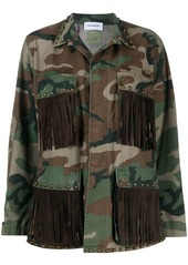 P.A.R.O.S.H. fringed camouflage-print military jacket