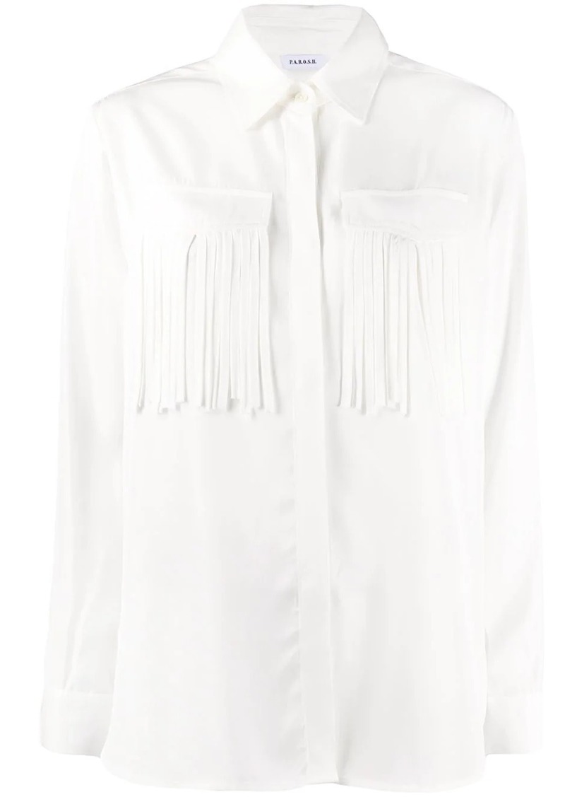 P.A.R.O.S.H. fringed long-sleeve shirt