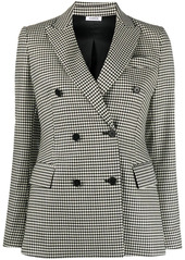 P.A.R.O.S.H. Lester double breasted gingham blazer