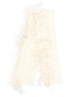 P.A.R.O.S.H. Lively fur-trimmed scarf
