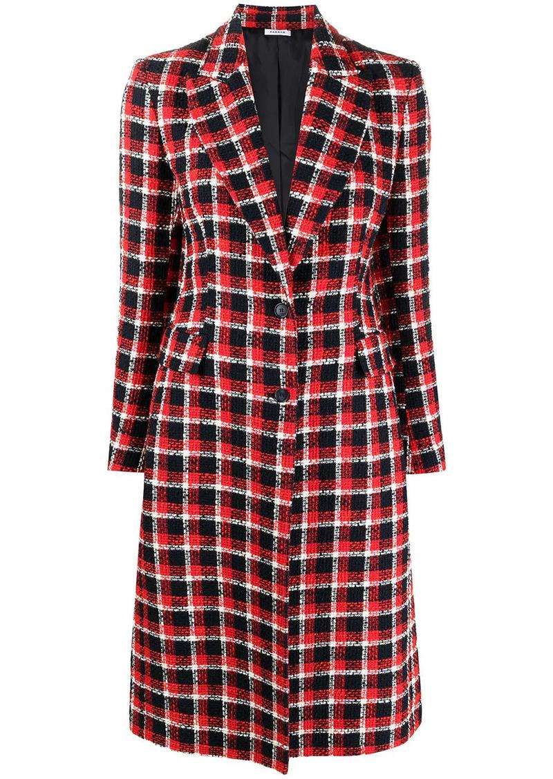 P.A.R.O.S.H. long checked coat
