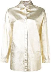 P.A.R.O.S.H. metallic biker jacket