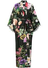 P.A.R.O.S.H. pansy print kimono