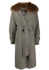 P.A.R.O.S.H. plaid belted coat
