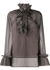 P.A.R.O.S.H. pleated-ruffle blouse