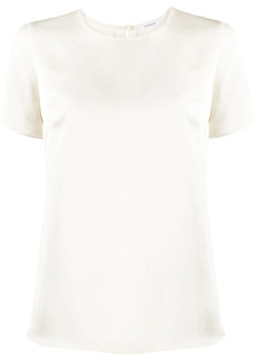 P.A.R.O.S.H. rear slit short-sleeved blouse