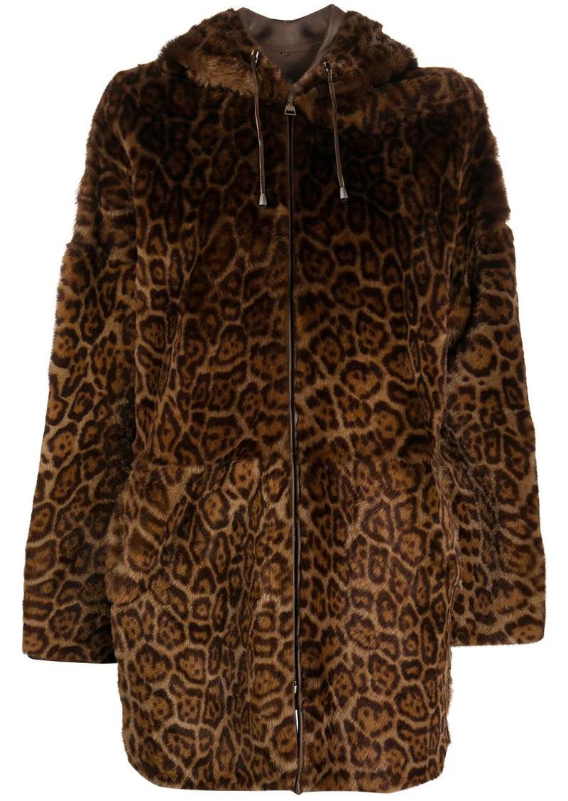 P.A.R.O.S.H. reversible leopard-print coat