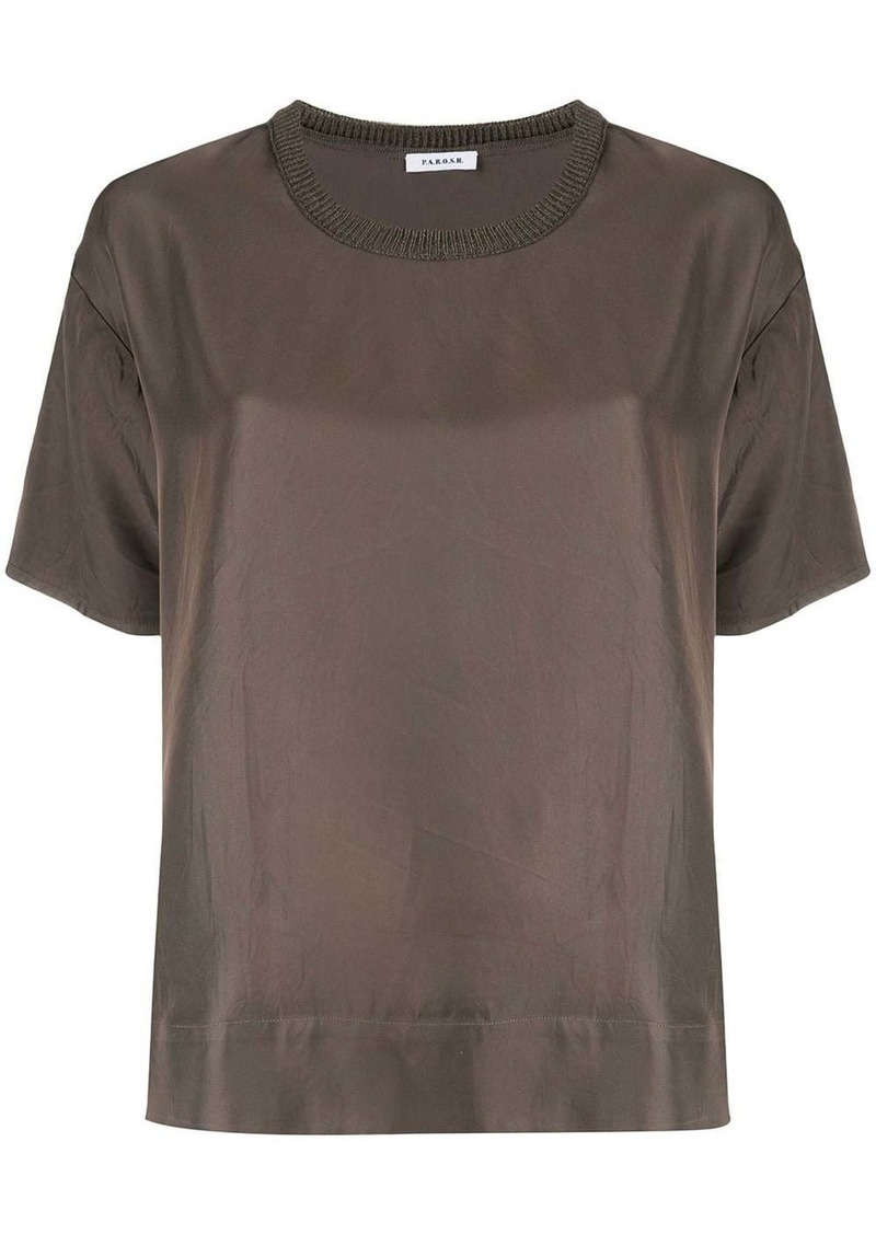 P.A.R.O.S.H. ribbed neck blouse