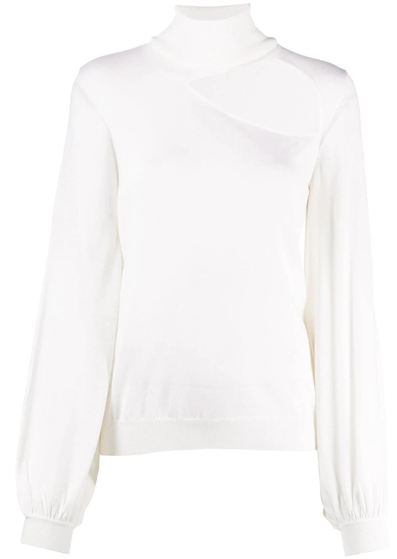 P.A.R.O.S.H. roll neck cut-out jumper