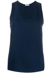 P.A.R.O.S.H. scoop neck loose fit tank top